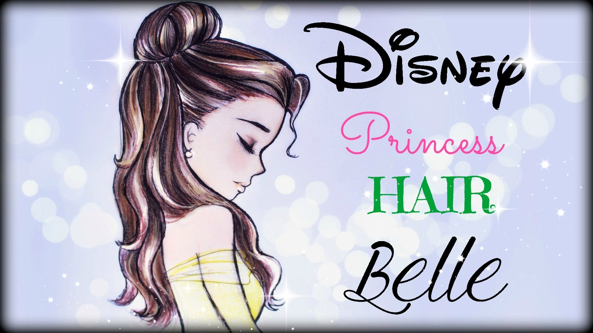 Drawn princess profile And YouTube Hair draw How