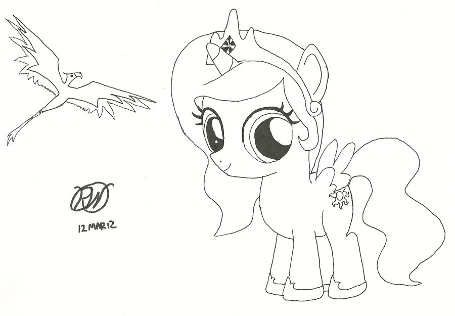 Drawn princess ratchet By Filly Celestia Filly and
