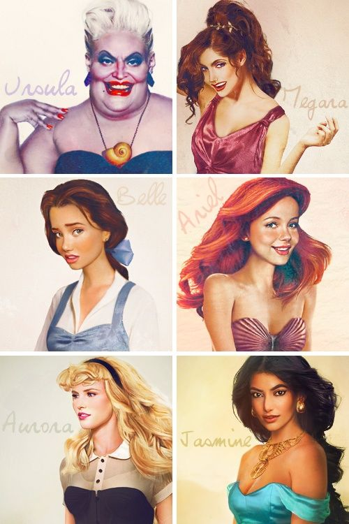 Drawn princess real life Realistic princesses on consider Pinterest