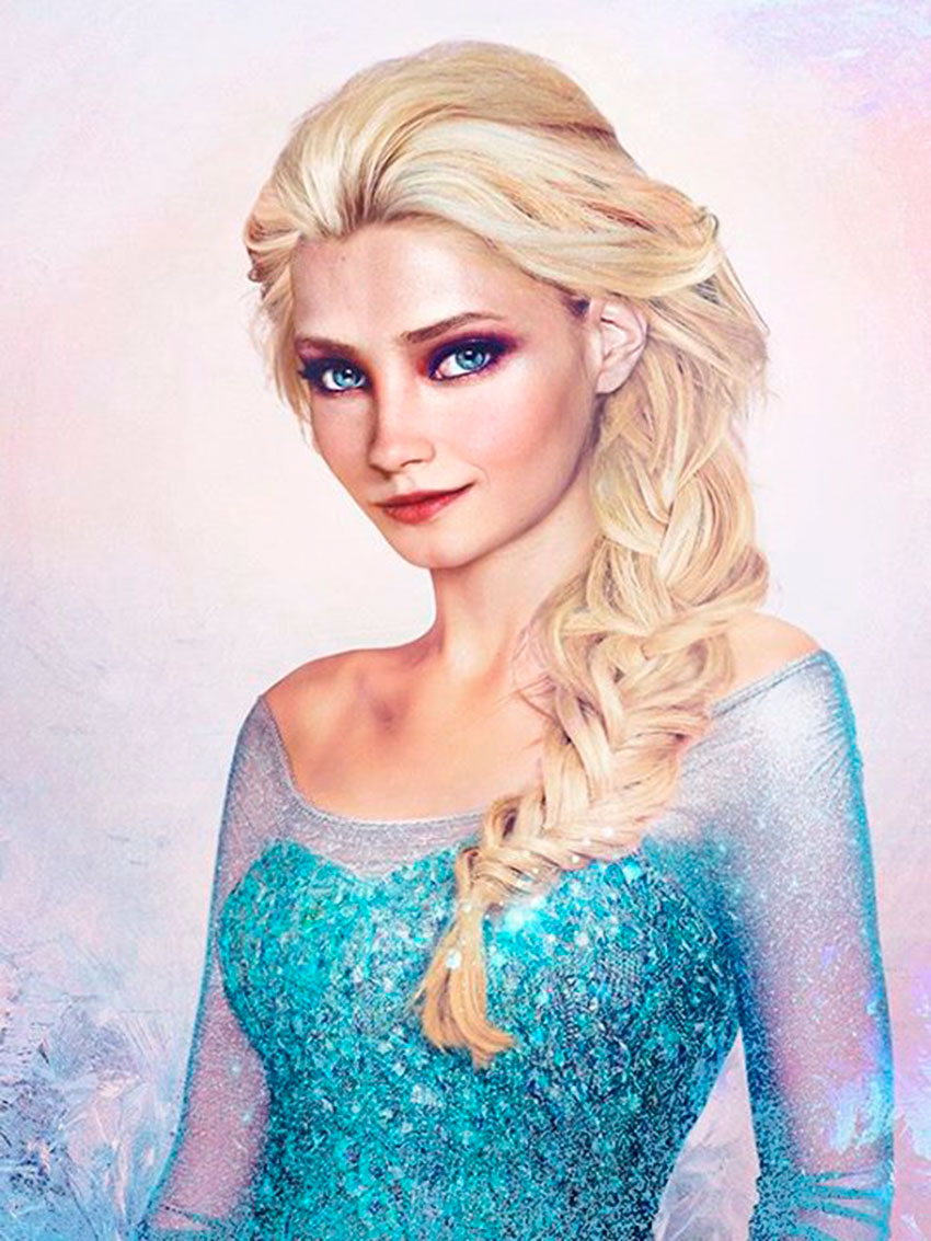 Drawn princess realistic Disney  that Princes and