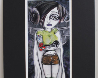 Drawn princess rebel Art Star Lowbrow Wars Eyes