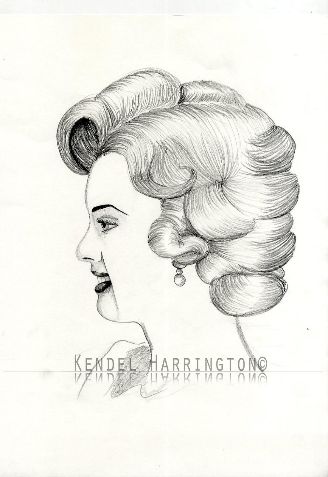 Drawn princess side view Profile drawn side Kendel own