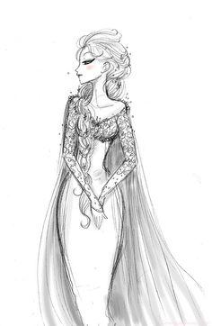 Drawn princess side view Especializado especializado ilustrações é O