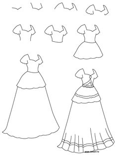 Drawn princess simple Step A how to draw