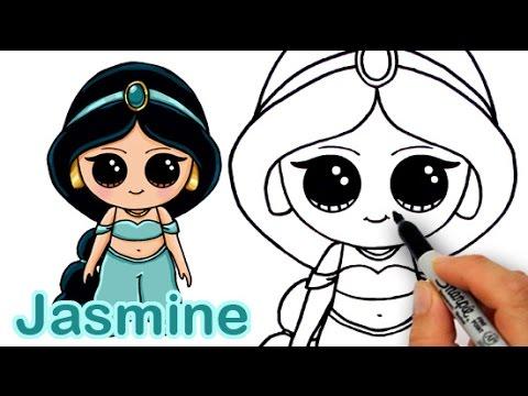Drawn princess simple Jasmine from Aladdin Princess Disney
