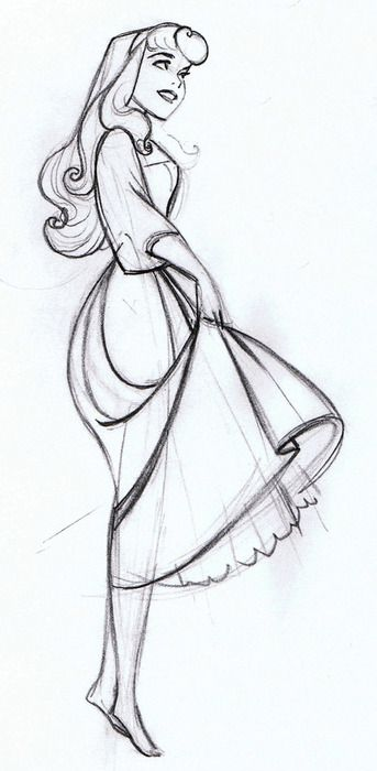 Drawn princess simple Movie drawings Princess Walt Disney's