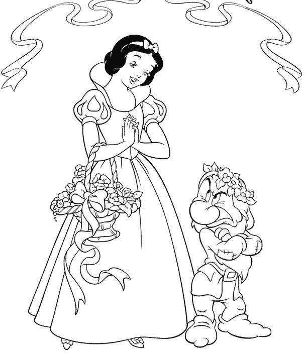 Drawn princess snow white Princess kids Coloring Best coloring