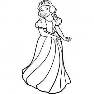 Drawn princess snow white Snow How white to Princesses