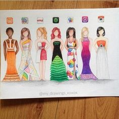 Drawn princess social media Favorite dresses one which part