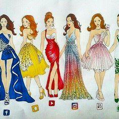 Drawn princess social media Social Drawings dresses Pinterest najładniejsza?