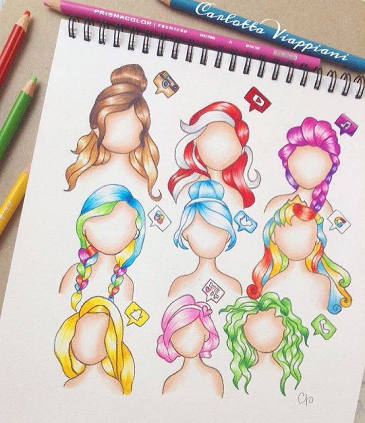 Drawn princess social media Favourite hairstyles! as use Comment