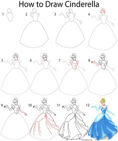 Drawn princess step by step  a to draw princess