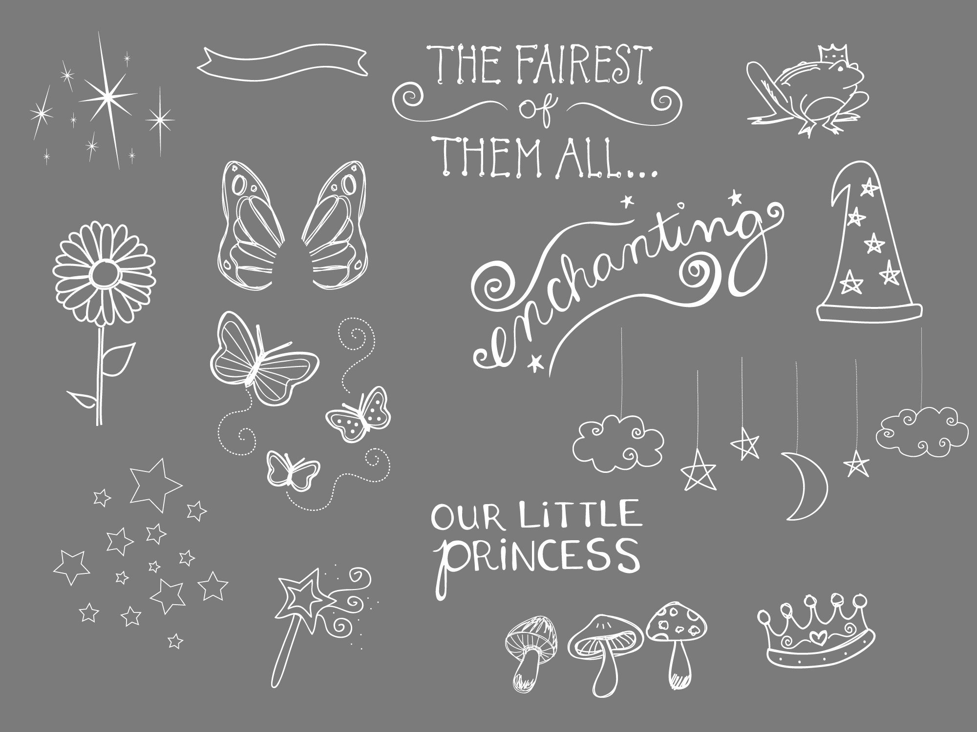 Drawn princess superhero fairytale DOODLES The FAIRYTALE Shoppe AND