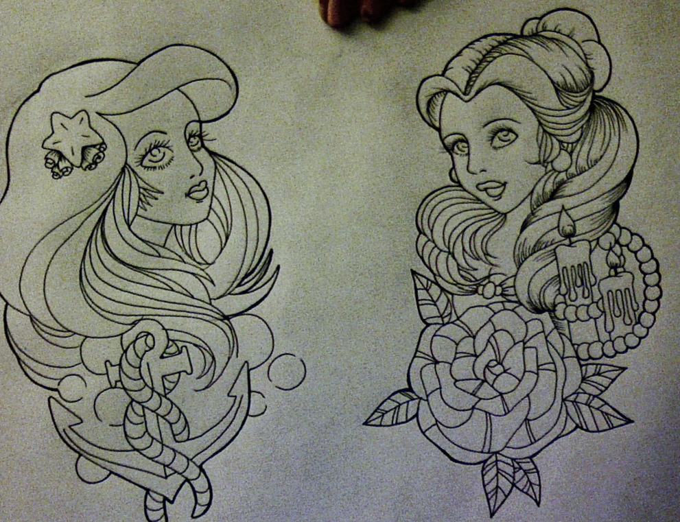 Drawn princess tattooed Much the Disney want Traditional