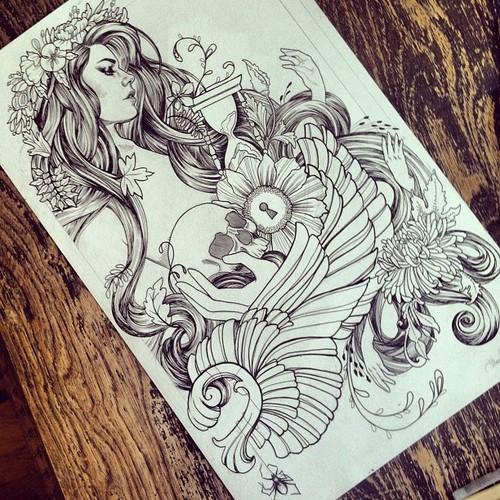 Drawn princess tattooed For a tattoo it