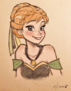 Drawn princess themed Party Princess Anna more Pin