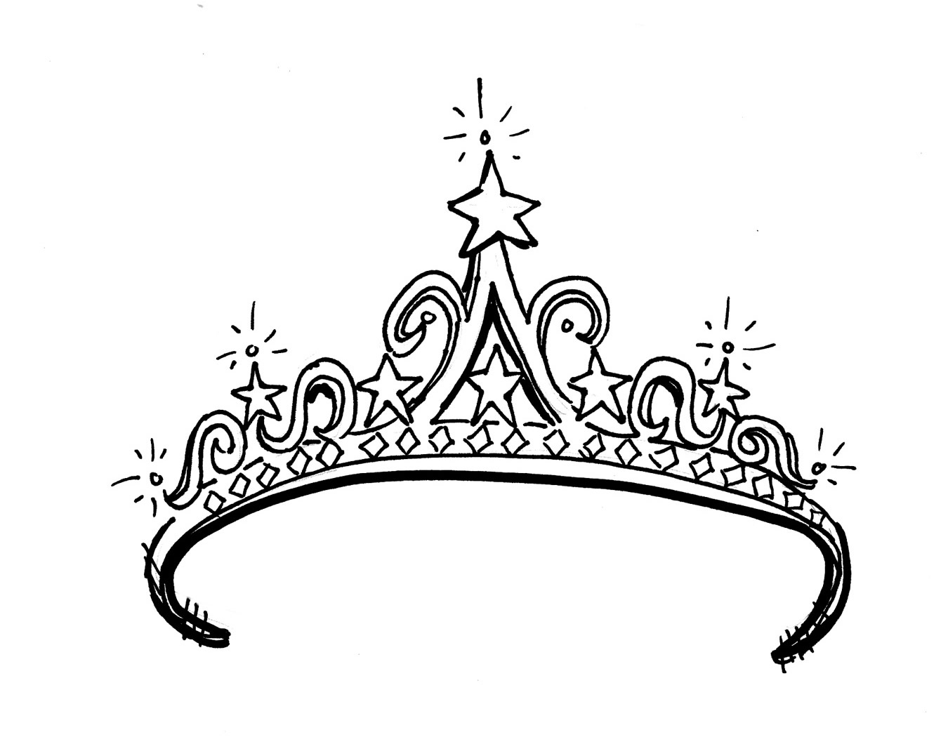 White clipart princess crown Library Tiara Clip Download Draw
