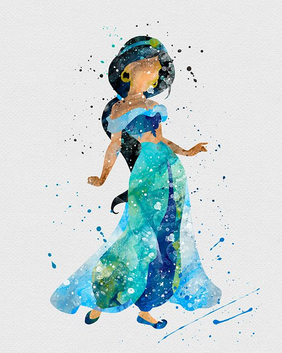 Drawn princess unique Princess Watercolor Princess jasmine Art