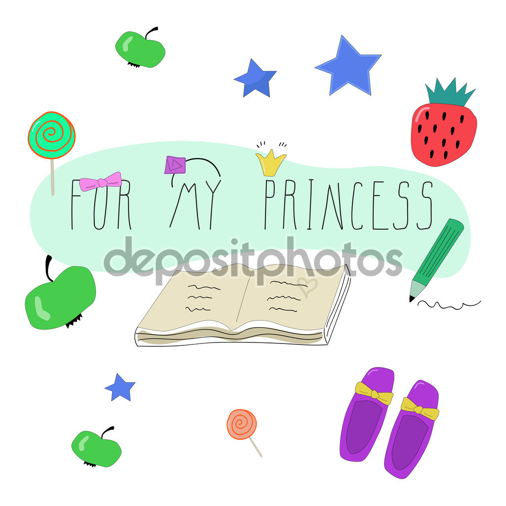 Drawn princess unique Of my objects Set drawn