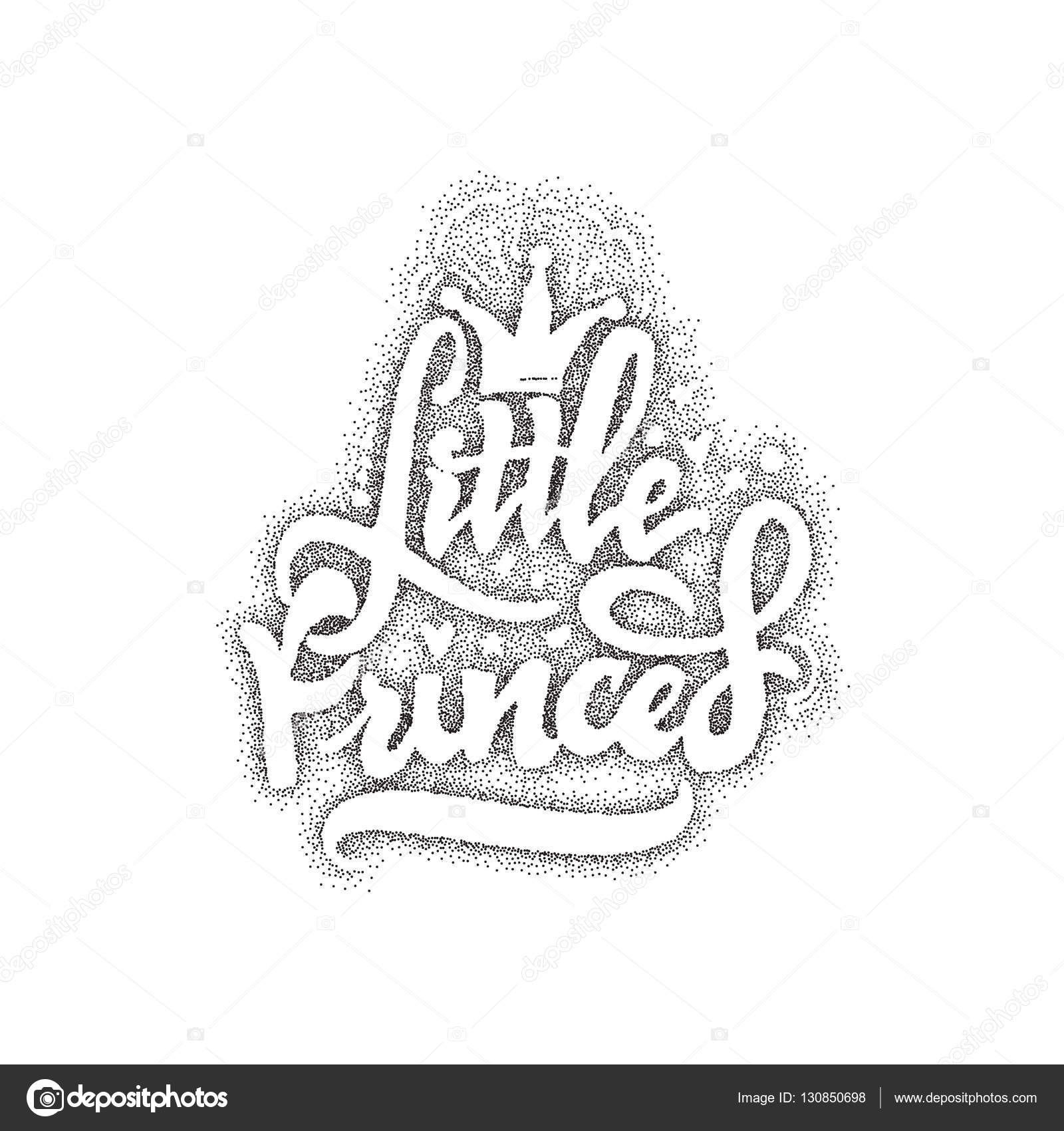 Drawn princess unique Calligraphic  Little Custom patch