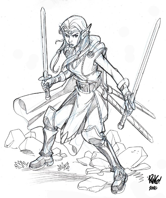 Drawn princess warrior Wieringo ELF by by PRINCESS