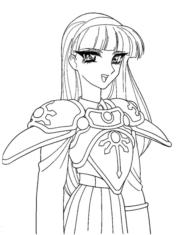 Drawn princess warrior Bestofcoloring com Anime for Beautiful