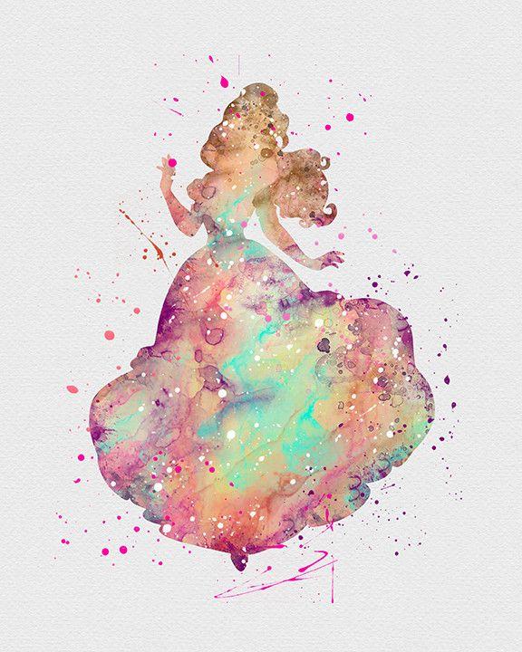 Drawn princess watercolor On Watercolor princess and wallpaper