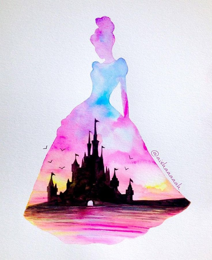 Drawn princess watercolor Best with Pinterest on castle