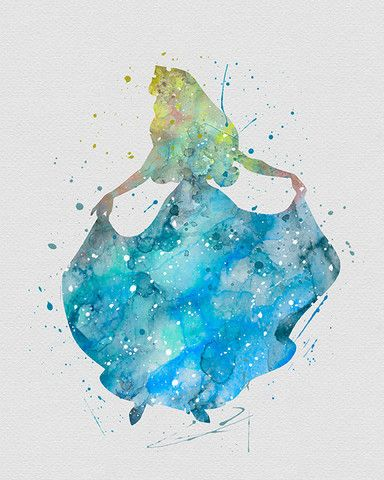 Drawn princess watercolor Ideas Watercolor beauty 2 Sleeping