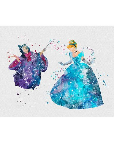 Drawn princess watercolor Art on Fairy Watercolor about