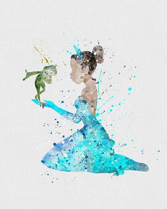 Drawn princess watercolor Best Watercolor Art Princess Pinterest