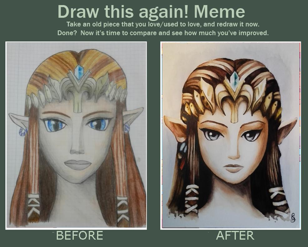 Drawn princess zelda twilight princess Again Zelda: Princess Draw Princess