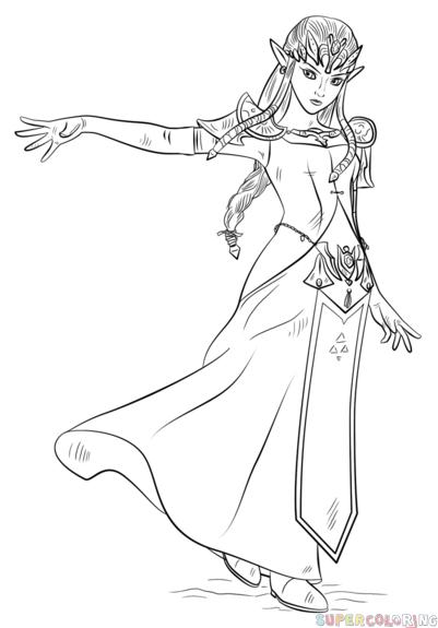 Drawn princess zelda twilight princess How Princess draw Princess Step