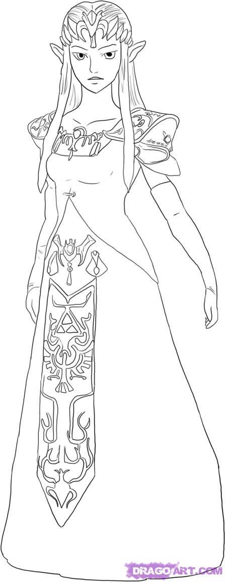 Drawn princess zelda twilight princess Step to draw princess Zelda