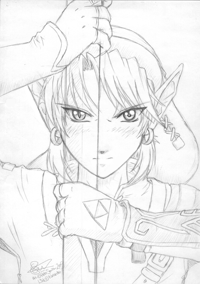 Drawn princess zelda twilight princess Twilight tigerangel Drawing Zelda Zelda