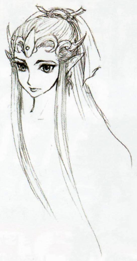 Drawn princess zelda twilight princess  Princess art sketch of