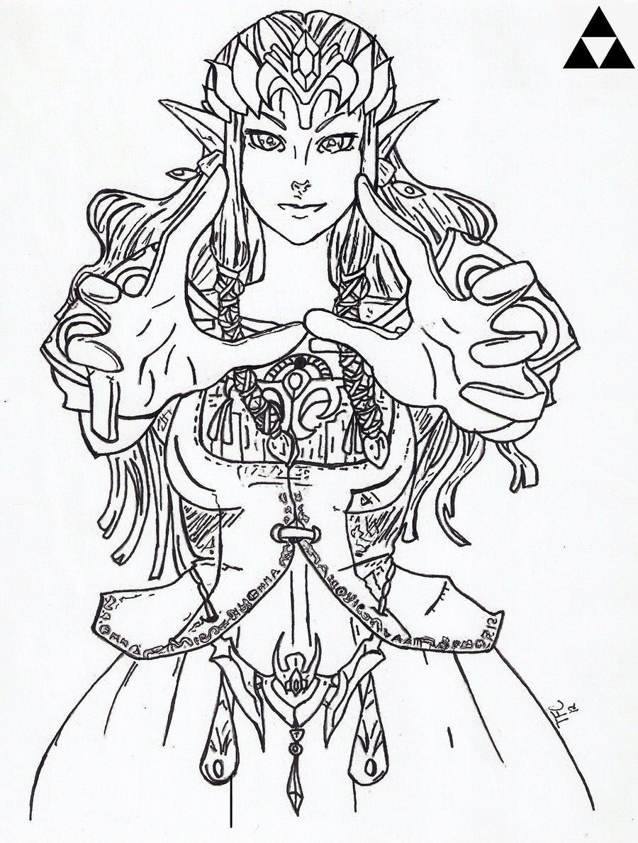 Drawn princess zelda twilight princess TriforceCaboose Twilight DeviantArt Twilight Princess