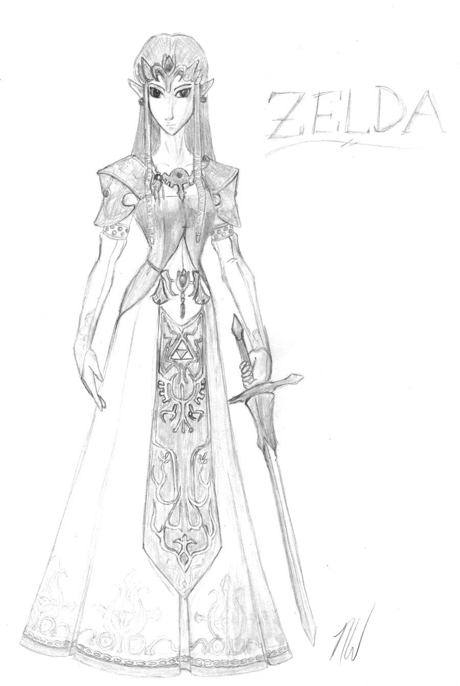Drawn princess zelda twilight princess Zelda by Princess by Zelda