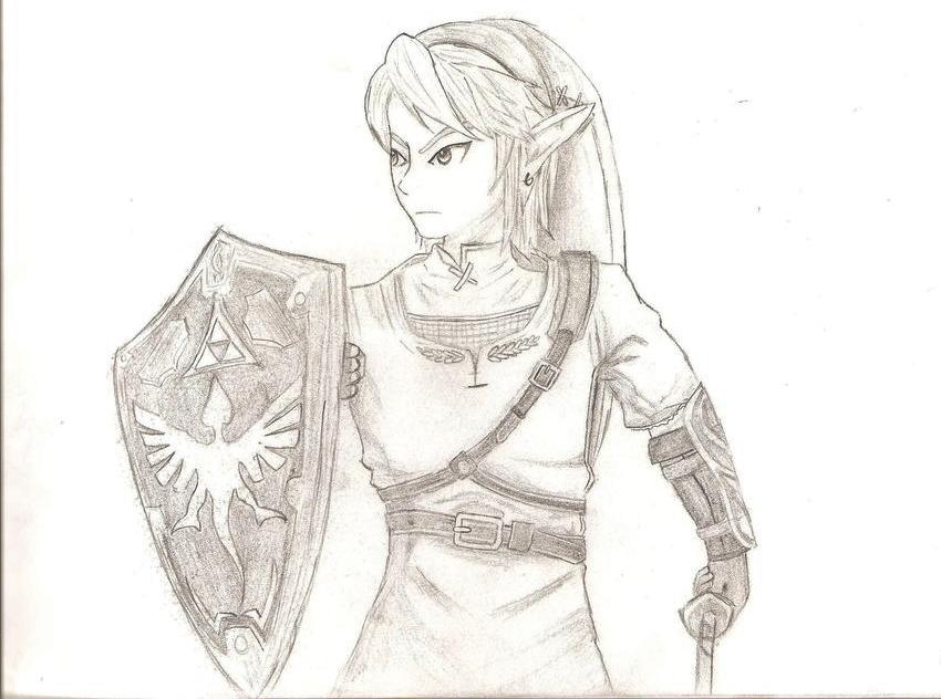 Drawn princess zelda twilight princess Princess Link: of Zelda of