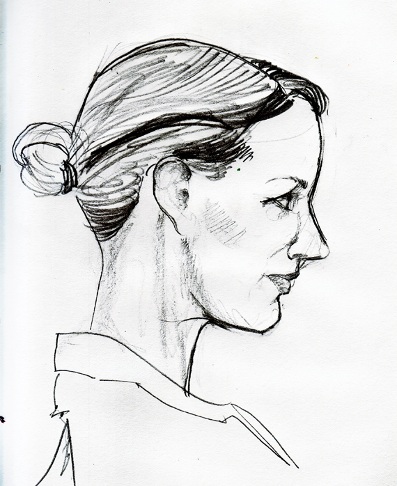 Drawn profile Sketch 13 11 Media: Illustration