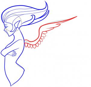 Drawn profile angel side To Angel an by Draw