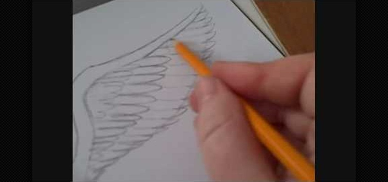 Drawn profile angel side « Illustration  & How
