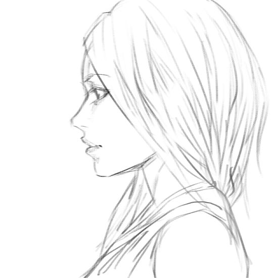 Drawn profile anime Best Profile Girl on drawing