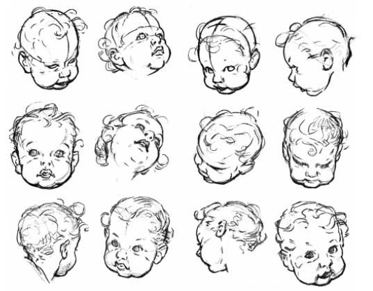 Drawn profile baby face Drawing Find with Face Babies