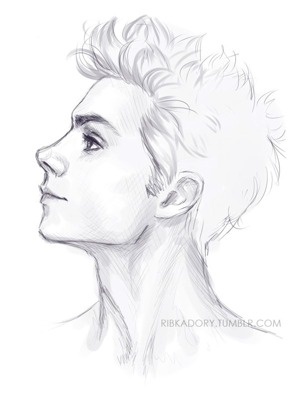 Drawn profile boy On Slender jaw Best IdeasSketchingProfile