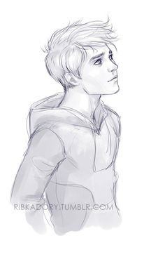 Drawn profile boy Via it's ROTG : inspiring