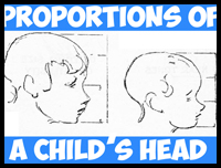 Drawn profile child face The Nose Proportions Face Faces