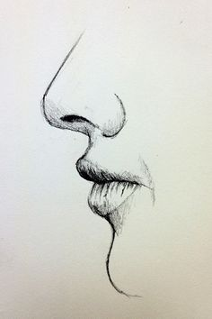Drawn profile closed eye Steps mouth lips How draw