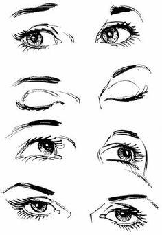 Drawn profile closed eye On to tutorial Search eye