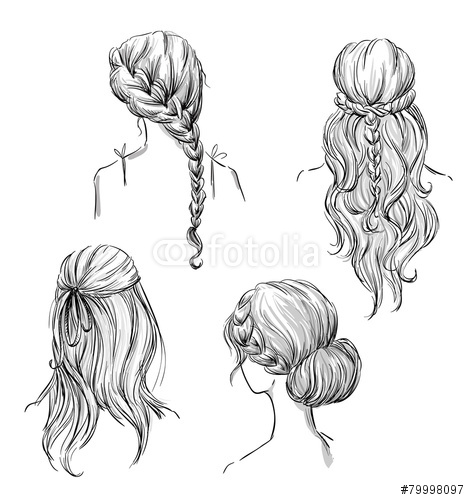 Drawn profile different Pinterest hairstyles drawing drawing Search